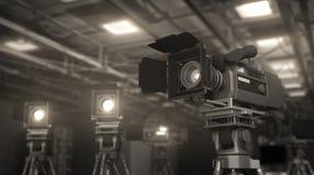 Camera in studio Stock Photo