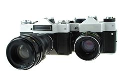 The camera in style of a retro Royalty Free Stock Photo