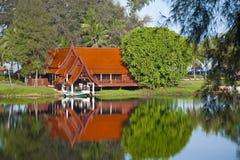 Camera sul lago Fotografia Stock
