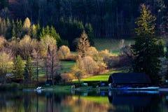 Camera sul lago del fulsch a Salisburgo, Austria Immagini Stock
