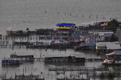 Camera sul lago, Koh Yo Island, Songkhla, Tailandia Fotografie Stock
