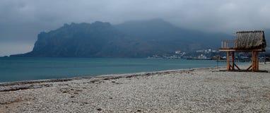 Camera sul litorale Fotografie Stock
