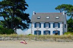Camera sulla spiaggia Fotografie Stock