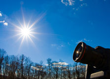 Camera at sun Royalty Free Stock Photography