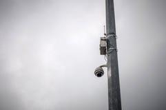 Camera surveillance fence Stock Photography