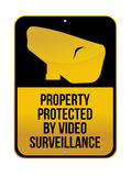 Camera Surveillance sign illustration design Royalty Free Stock Photos