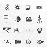 Camera symbol Royalty Free Stock Images