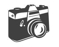 Camera symbol. Closeup of camera symbol on white background Royalty Free Stock Images