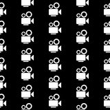 Camera symbol seamless pattern Royalty Free Stock Images