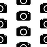 Camera symbol seamless pattern Stock Photo