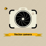 Camera symbol. With shutter vector illustration Stock Images