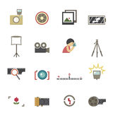 Camera symbol vector Stock Photos