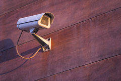 Camera system guarding. Office building in horizontal format Stock Image