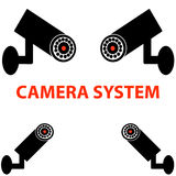 Camera system on white background Royalty Free Stock Photo