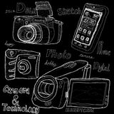Camera and technology vector illustration