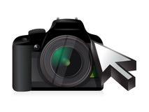 Camera technology cursor Royalty Free Stock Photography