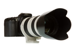 Camera and telelens Royalty Free Stock Images