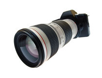 Camera with a telephoto lens Royalty Free Stock Image