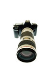 Camera with a telephoto lens Royalty Free Stock Photo