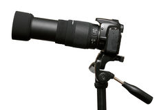 Camera with telephoto zoom lens Stock Image