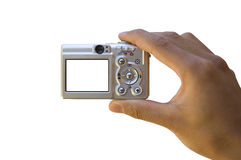 Camera Template. Taking pictures with a digital camera Royalty Free Stock Photography