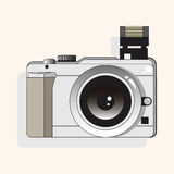 Camera theme elements vector,eps. Vector illustration file Royalty Free Stock Image