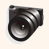 Camera theme elements vector,eps Royalty Free Stock Image