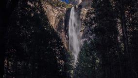 Bridaveil Falls tilt up stock footage
