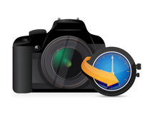 Camera timing watch clock Royalty Free Stock Photo