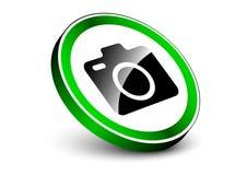 Camera toegestaan teken met 3d bevindend effect voorwerp Royalty-vrije Stock Fotografie