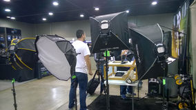 Camera trade show Royalty Free Stock Image