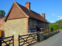 Camera tradizionale dell'azienda agricola di Hascombe in Surrey, Regno Unito Fotografia Stock Libera da Diritti