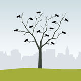 The camera tree stock illustration