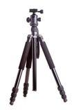 Camera tripod. Professional adjustable black camera tripod, isolated on white Royalty Free Stock Image