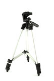 Camera tripod. Isolated on white Royalty Free Stock Photography