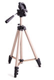 Camera tripod. Isolated on white background Royalty Free Stock Photos