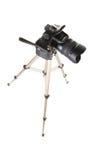 Camera on tripod Royalty Free Stock Photography