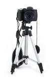 Camera on tripod Stock Photography
