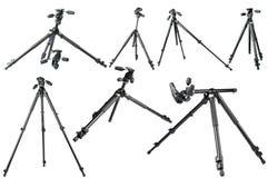 Camera Tripod. Professional camera tripod on white background (carbonfiber Stock Photos
