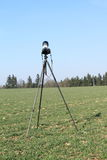 Camera on tripod Royalty Free Stock Image