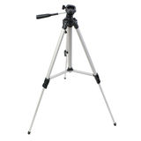 Camera tripod over isolated white background Royalty Free Stock Images