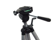 Camera tripod over white Royalty Free Stock Image