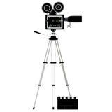 Camera tripod over white Stock Image