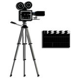 Camera tripod over white Royalty Free Stock Images