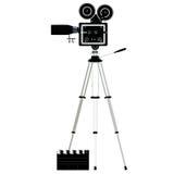 Camera tripod over white Royalty Free Stock Image