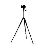 Camera on a tripod Royalty Free Stock Images