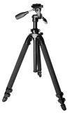 Camera tripod (stand). Isolated on white background with clipping path Stock Image