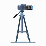Camera tripod static professional photography Stock Photos