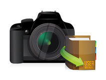 Camera and user manual Royalty Free Stock Photography