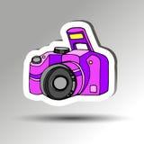 Camera vector digital black lens focus photographer Stock Images